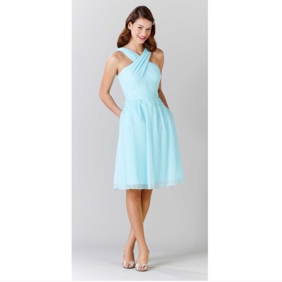 670c1debb76 Kennedy Blue Dresses   Skirts - Kennedy Blue Bridesmaid  Prom Dress in Pale  Blue